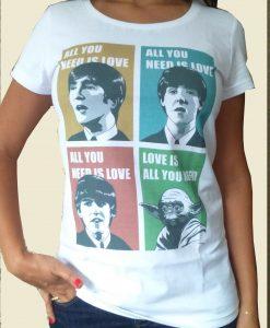 Camiseta All You Need is Love – Feminina – Branca