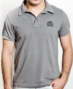 Camiseta Pólo – Masculina – Cinza