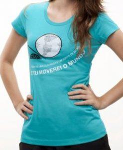 Camiseta Alavanca – Feminina – Turquesa